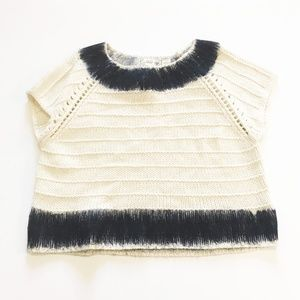 Anthropologie Filed Flower Feltwork Top sweater
